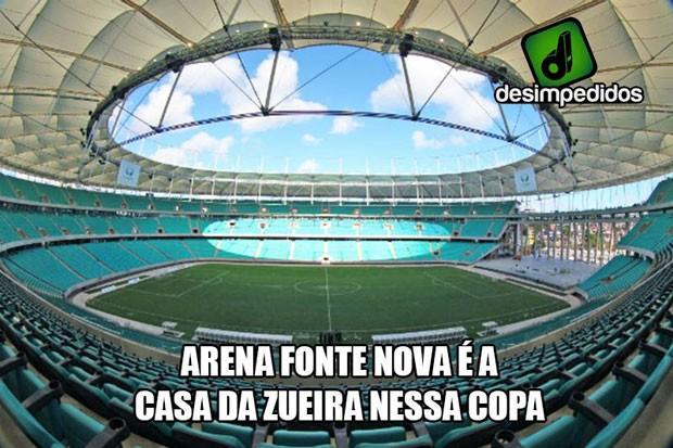 Arena Fonte Nova é a casa dos gols (Foto: Reprodução/Facebook)