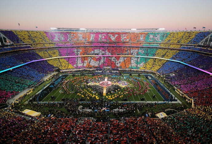 Mosaico show do intervalo super bowl 50 (Foto: Getty Images)