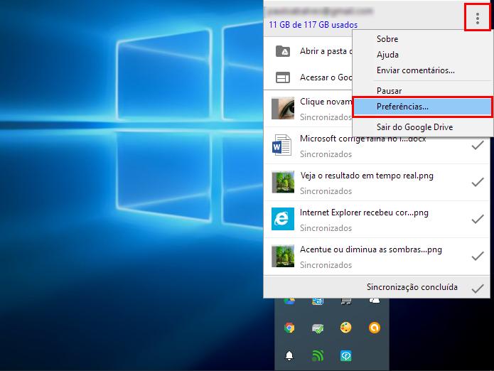 Acesse as preferências no Windows (Foto: Reprodução/Paulo Alves)