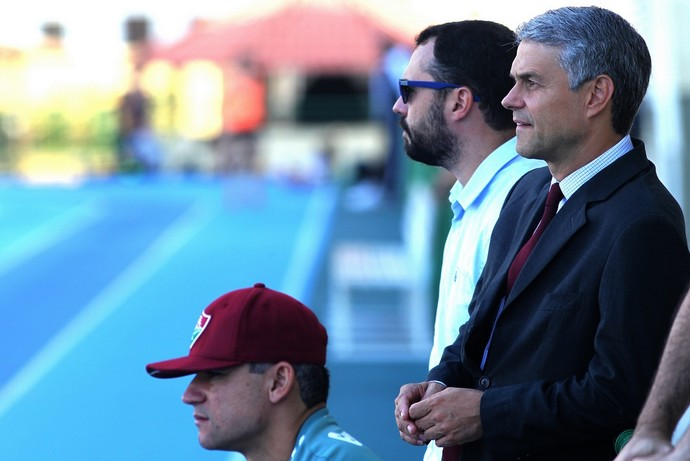 Peter Siemen, Eduardo Baptista e Mário Bittencourt - Fluminense (Foto: Nelson Perez / Fluminense FC)