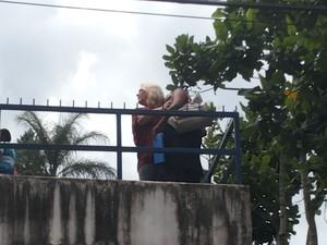 Confusão na prova do liceu em Petrópolis 3 (Foto: Andressa Canejo/G1)