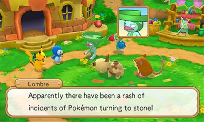 Game conta história de Pokémons que vivem em uma vila e precisam de sua ajuda (Foto: Divulgação / Nintendo)