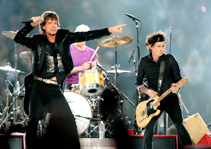Rolling Stones  superbowl 2006 (Foto: Brian Bahr / Getty Images)