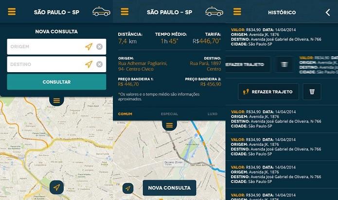 Saiba antes quanto custará uma corrida com o Taxi Help (Foto: Divulgação/AppStore)