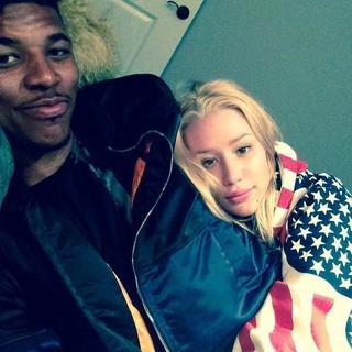 Iggy Azalea e o noivo, Nick Young (Foto: Instagram/ Reprodução)