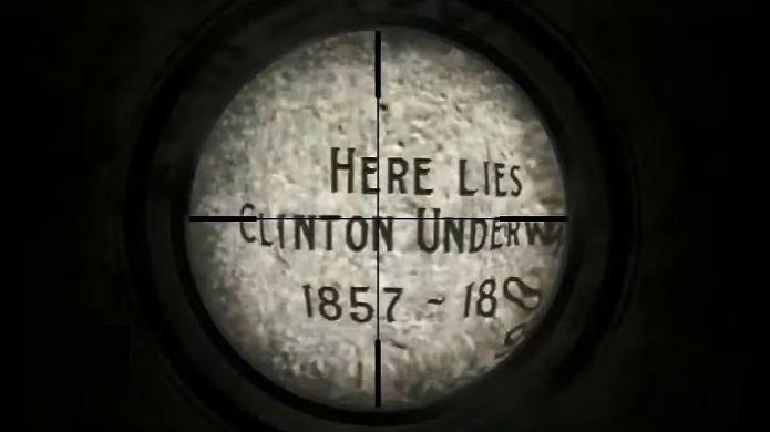 A lápide de Clinton Underwood em Red Dead Redemption (Foto: Reprodução/Thomas Schulze)