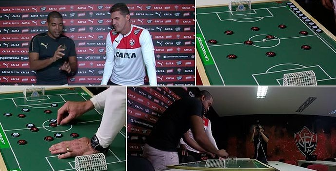 Rafael Santana; Vagner Mancini; Vitória; botão (Foto: Egi Santana)
