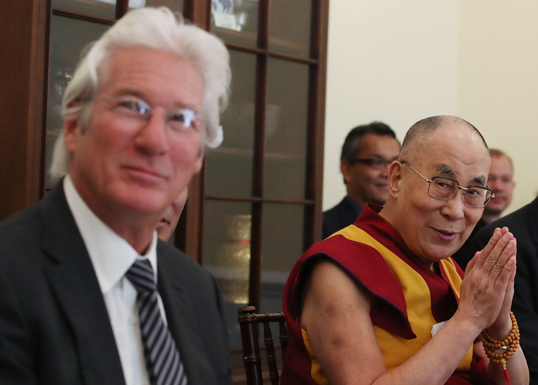 Richard Gere e Dalai Lama em encontro (Foto: Getty)
