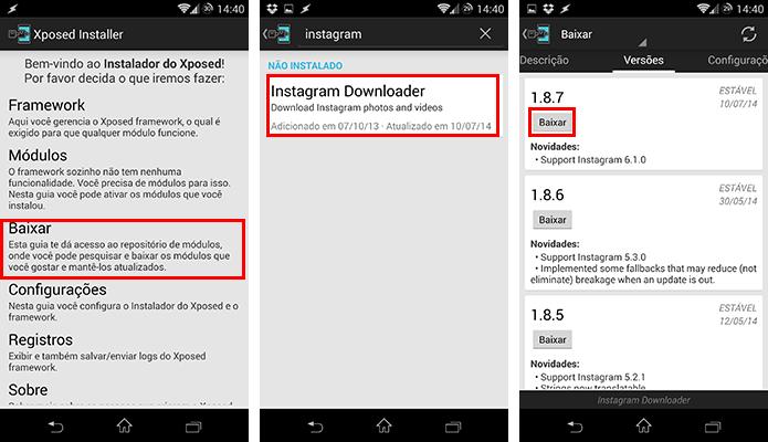 Baixe o módulo Instagram Downloader (Foto: Reprodução/Paulo Alves)
