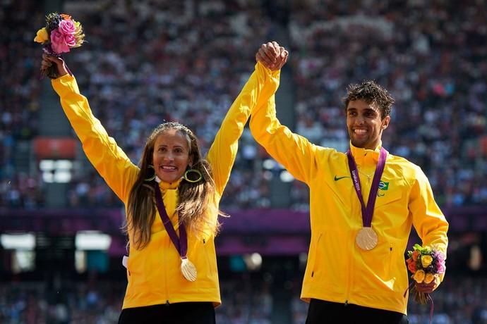 Ao lado de Guilherme, Terezinha Guilhermina conquistou mais de 20 títulos internacionais  (Foto: Arquivo pessoal)