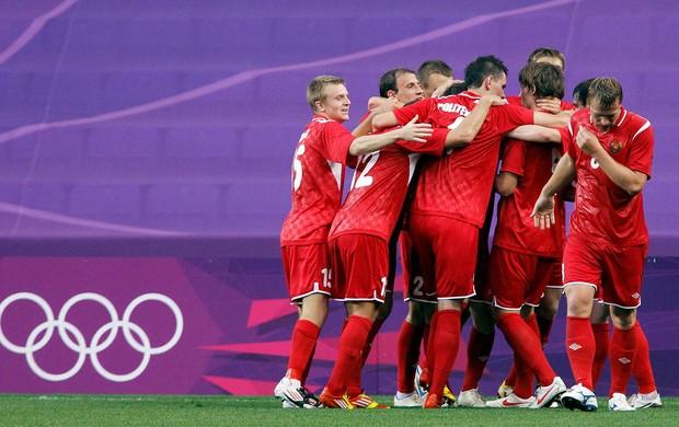 Bielorrúsia x Nova Zelândia, Baga Dmitry Comemoração (Foto: Agência Reuters)