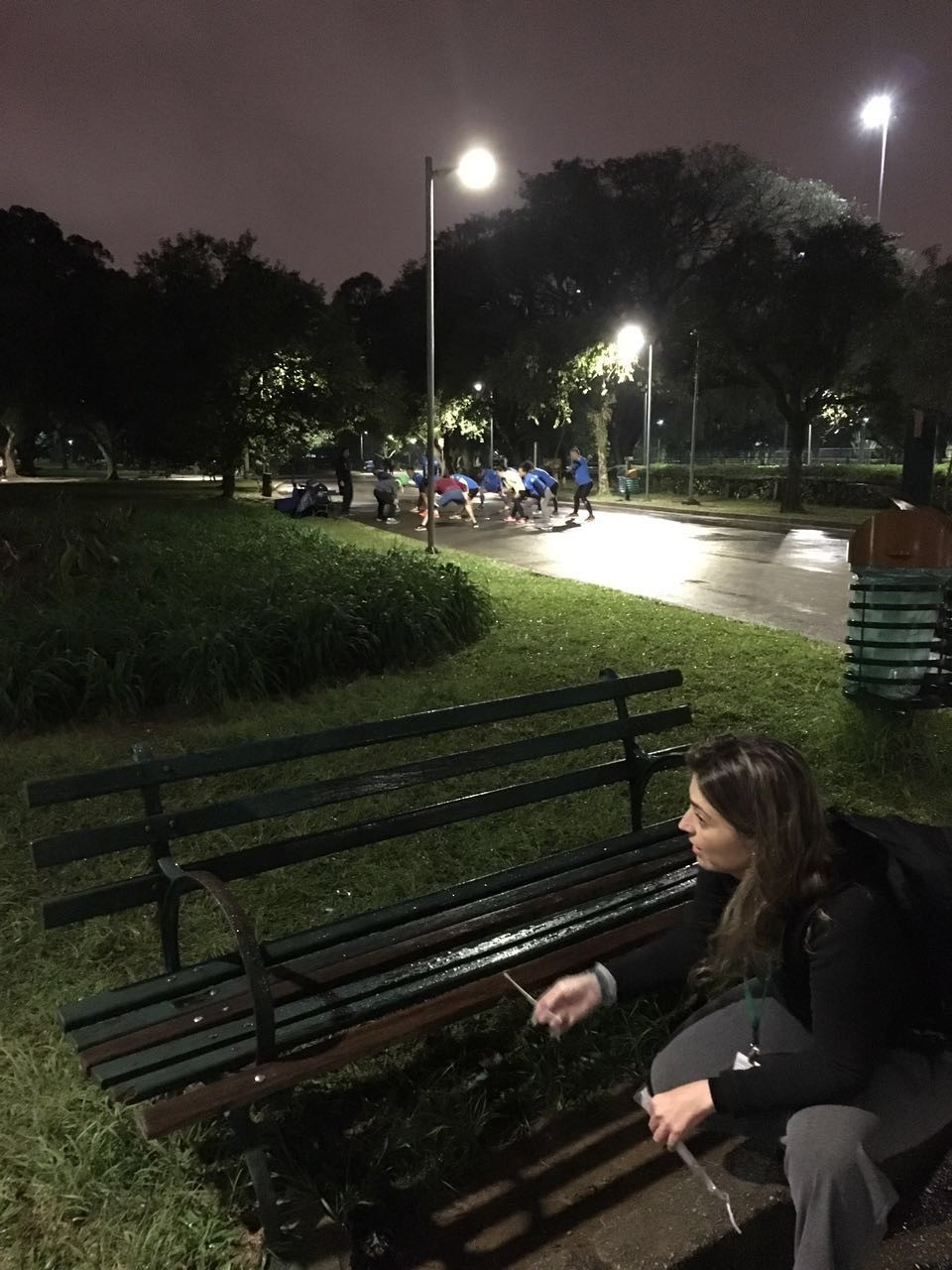 Coleta de amostras no parque Ibirapuera, em São Paulo (Foto: Arquivo Pessoal/Emmanuel Dias Neto)