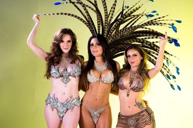 Capas da 'Sexy' posam em clima de carnaval (Foto: Nelson Miranda/Divulgação)