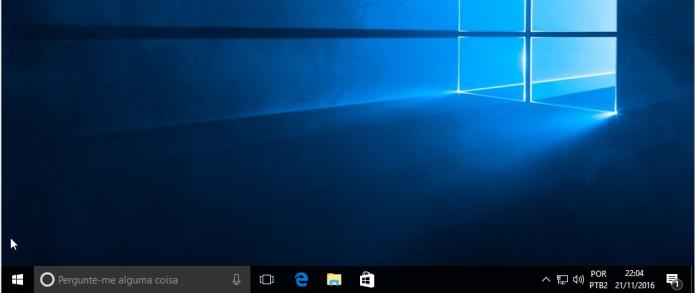 A barra de tarefas sumiu ou não funciona no Windows? Veja como resolver (Foto: Reprodução/Edivaldo Brito)