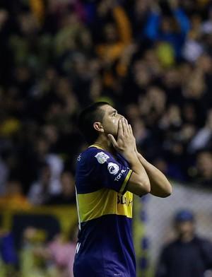Riquelme, Boca Juniors x Lanus (Foto: AP)