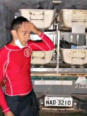Acidente aconteceu na tarde desta quarta-feira (19) (Foto: Divulgação/Bombeiros)