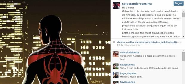 Anderson Silva, Vitor Belfort, Instagram