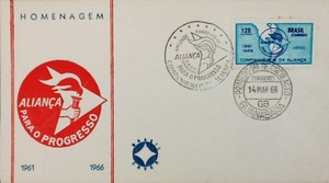 Envelope em homenagem à Aliança para o Progresso (Foto: Divulgação)