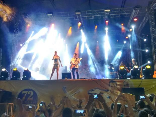 Banda XCalypso fez primeiro show ao vivo em Ananindeua (Foto: G1 PA)
