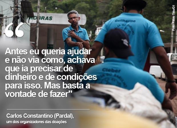 Pardal fala sobre a vontade de juntar doações a quem precisa (Foto: Fábio Tito/G1)