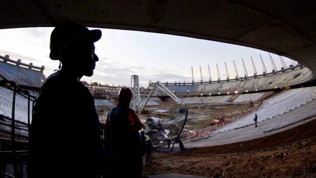 Estádio Castelão em obra para a Copa do Mundo de 2014 (Foto: J. Luís/Divulgação)