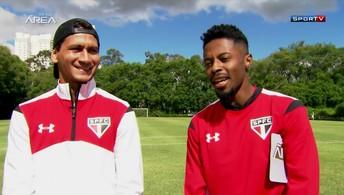 Paulo Henrique Ganso e Michel Bastos se entrevistam