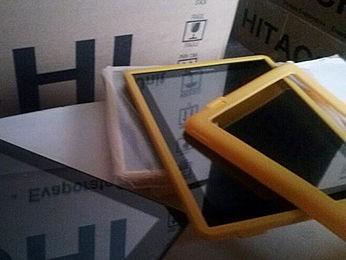 Detalhe dos tablets roubados nesta quarta; rombo passa de R$ 1,1 milhão (Foto: Polícia Militar)