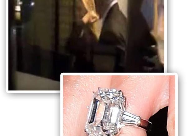 O anel de noivado de Mariah Carey (Foto: Reprodução)