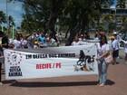 Marcha em defesa dos animais movimenta orla da Zona Sul do Recife