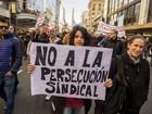Jornalistas argentinos protestam por melhores salários e contra demissões
