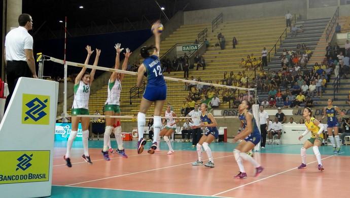 Amistoso da seleção brasileira feminina de vôlei (Foto: Leonardo Freire/GloboEsporte.com)