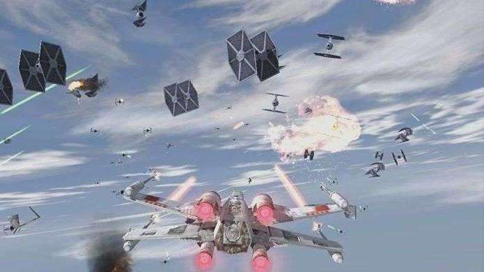 Praticamente nenhum jogo superou o visual de Star Wars: Rogue Squadron 2 no GameCube (Foto: Reprodução/GameSpot)