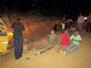 Acidente ocorreu na noite deste domingo (5) (Foto: Reprodução / TV Bahia)