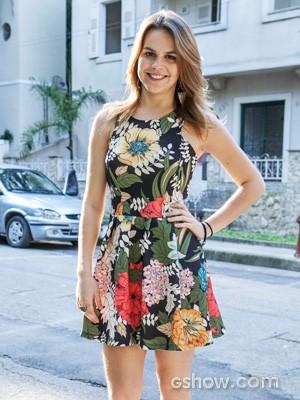 Ela não se cansa de abrir o sorriso (Foto: Inácio Moraes / TV Globo)