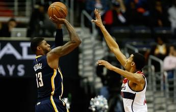 Com a mira calibrada, Paul George faz 40 pontos, e Pacers dominam Wizards