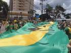 Manifestantes na região de Ribeirão vão às ruas contra o governo Dilma