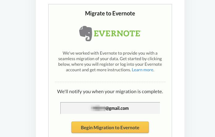 Migrando dados para o Evernote (Foto: Reprodução/Helito Bijora)