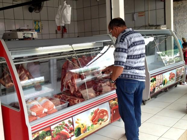 Cruzeiro do Sul pode sofrer com a falta de carne (Foto: Genival Moura/G1)