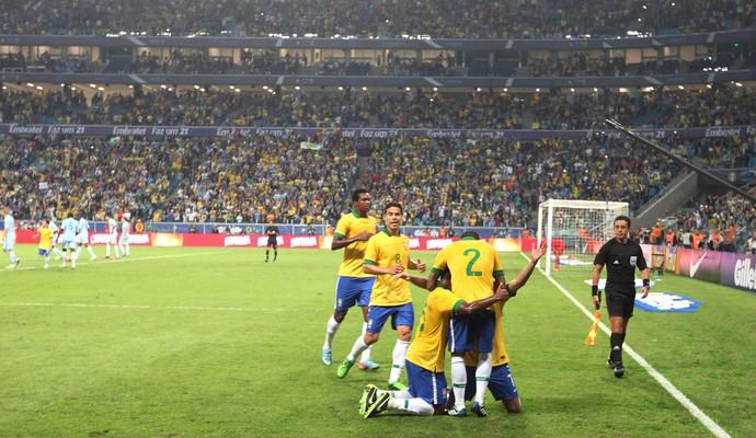 Comemoração Brasil, França (Foto: Mowa Press)