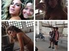 Giovanna Ewbank capricha no 'carão' nos bastidores de ensaio