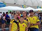 'Calor, mas estamos gostando', diz turista durante olimpíada em Manaus
