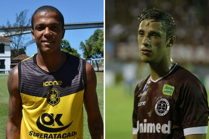 Erick Daltro, do Rio Branco-ES, e Lucas Valim, da Desportiva Ferroviária vão duelar ao vivo na TV Gazeta  (Foto: Montagem/GE)