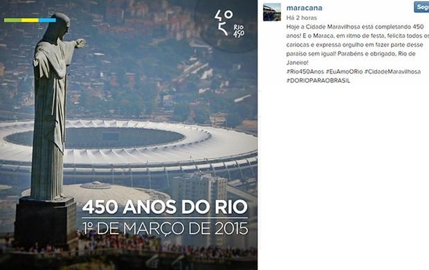 Maracana homenagem ao Rio no Instagram