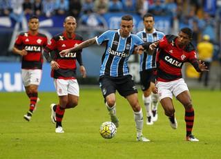 Luan contra o Flamengo  (Foto: Lucas Uebel / Grêmio, DVG)