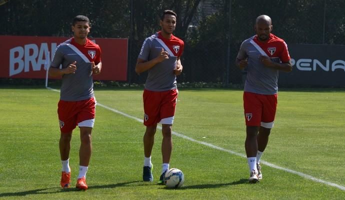 Denilson, Souza e Edson Silva São Paulo (Foto: Divulgação/saopaulofc.net)