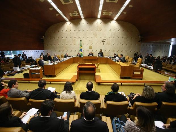 Plenário do Supremo Tribunal Federal (STF), em Brasília, decide sobre necessidade de aprovação prévia para publicação de biografias (Foto: André Dusek/Estadão Conteúdo)