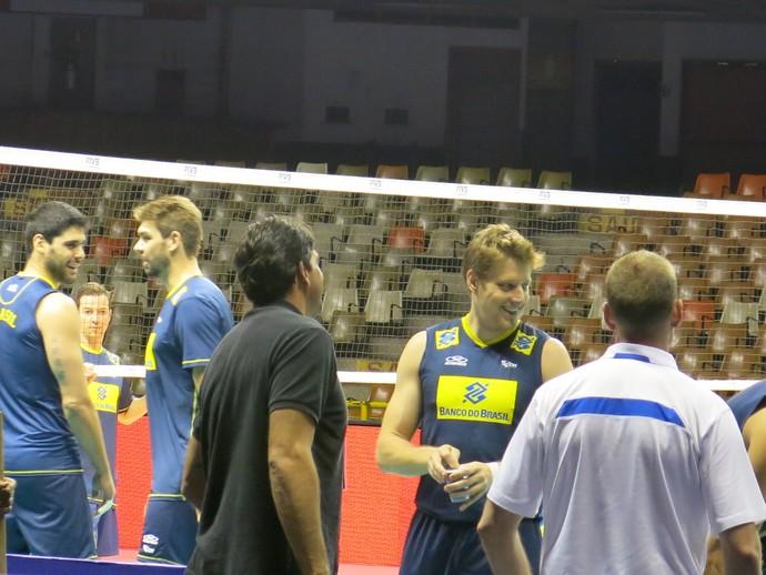 Brasil x Sérvia Murilo treino seleção vôlei (Foto: Danielle Rocha)