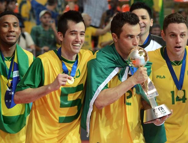 falcao brasil campeao Brasil Espanha Mundial de Futsal (Foto: AFP)