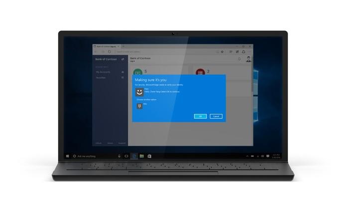Windows 10 Anniversary Update terá login com biometria no Microsoft Edge (Foto: Divulgação/Microsoft)