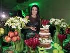 Gracyanne comemora 31 anos com cardápio fitness em festa surpresa